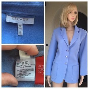 Escada blue women's jacket size 42 US 12